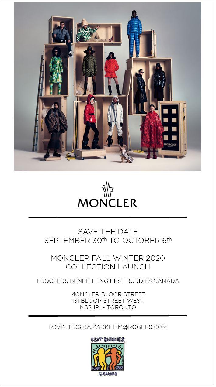 Moncler - Bloor St - Best Buddies Canada 2020 - INVITATION